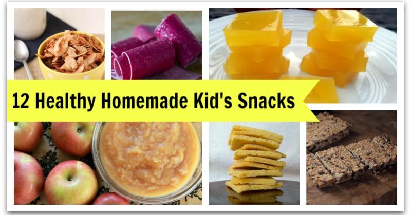 12 healthy kid's snack recipes