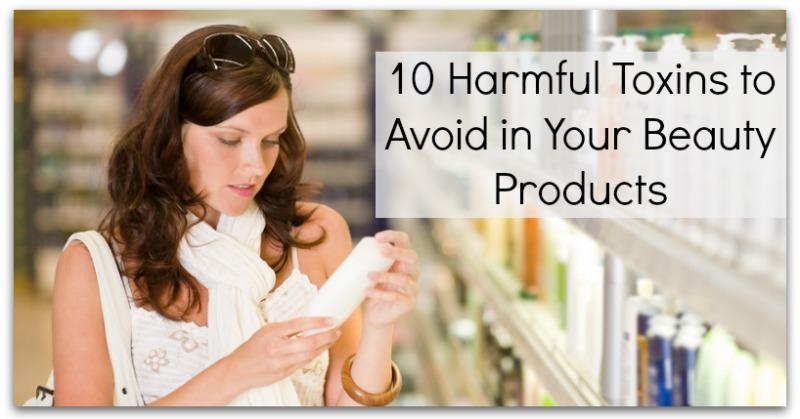 Shopping cosmetics - woman holding shampoo
