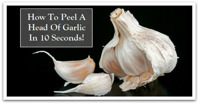 How To Peel Garlic 10 Secs-H
