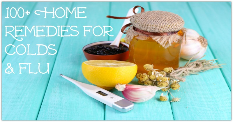 Folk remedies for colds on wooden table