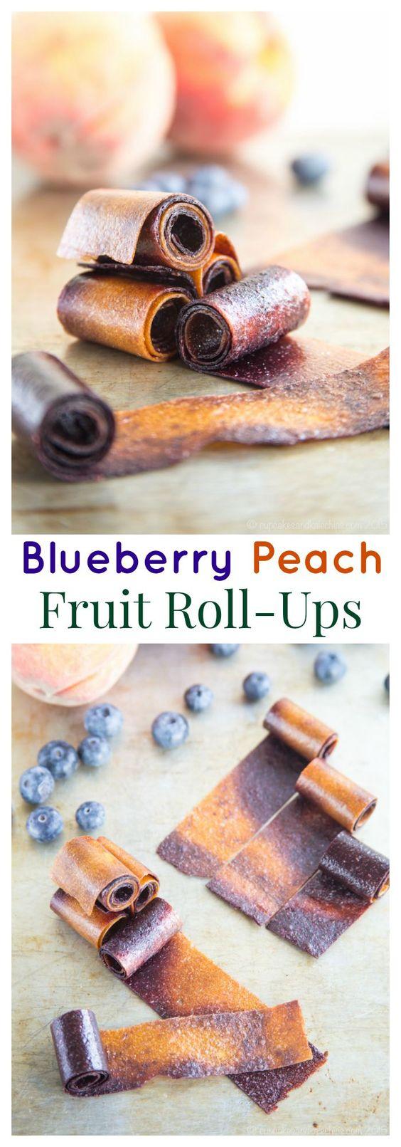 blueberrypeachfruitrollup