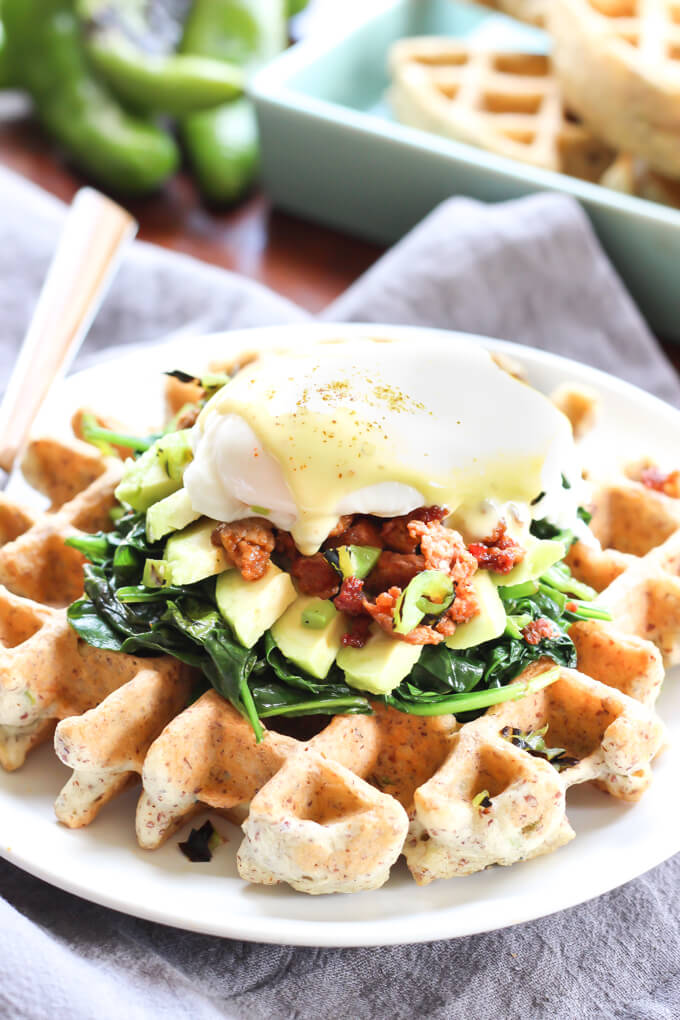 Hatch-Chile-Waffles-eggs-benedict