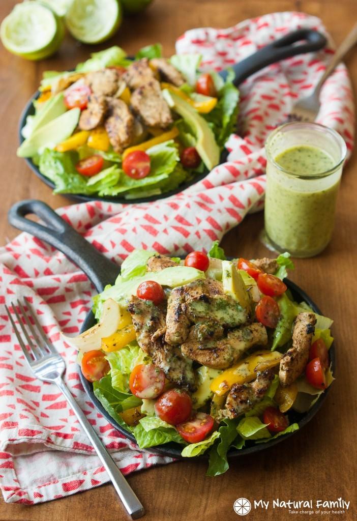 cilantro lime fajita salad2