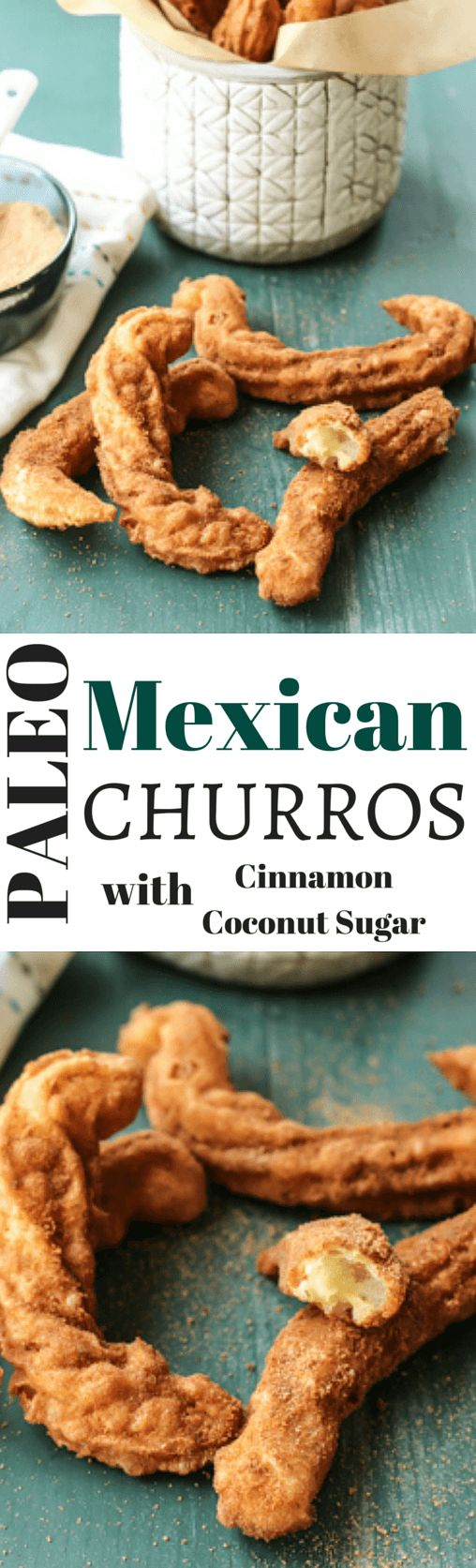 mexican churros with cinnamon coconut sugar pin