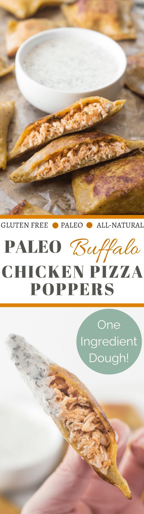 paleo buffalo chicken pizza poppers
