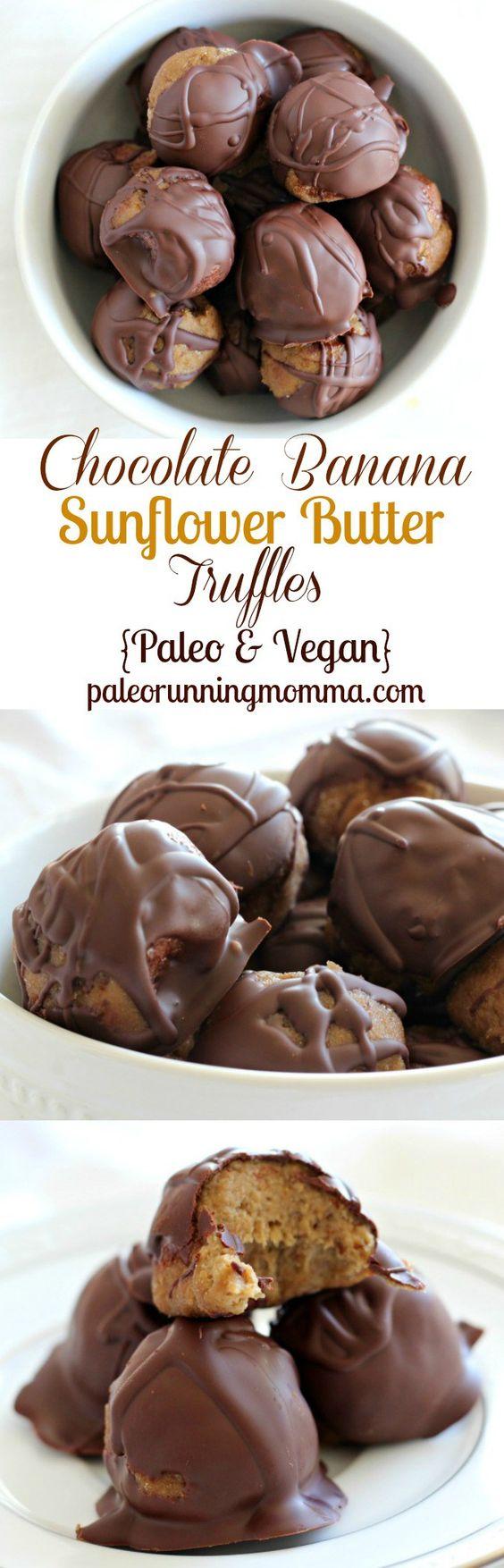 sunflower butter truffles