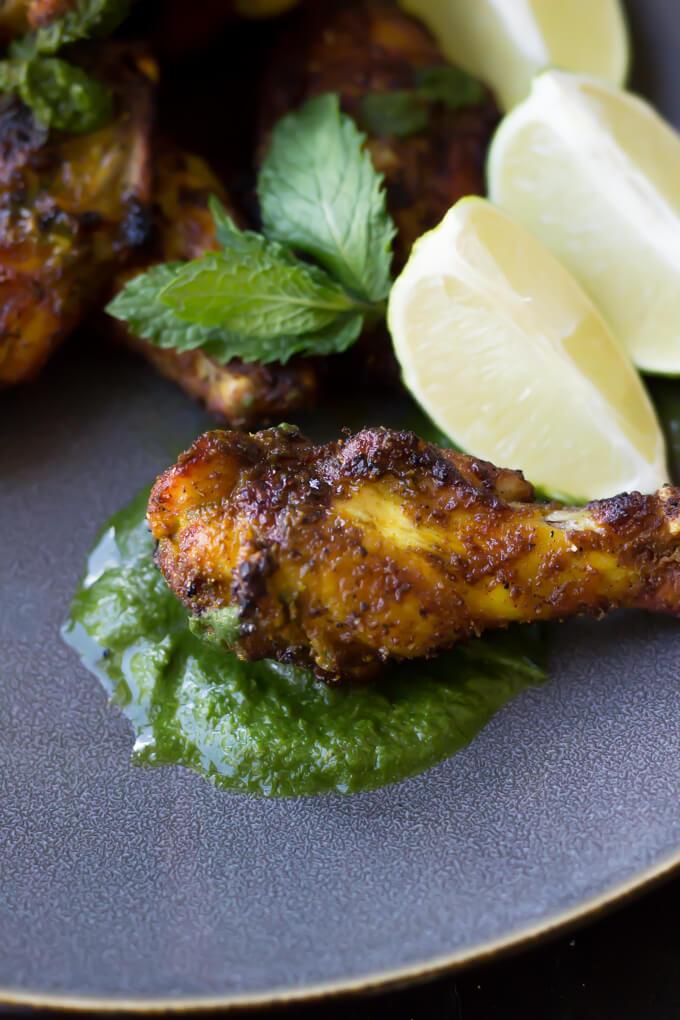 tandoori wings with mint chutney2