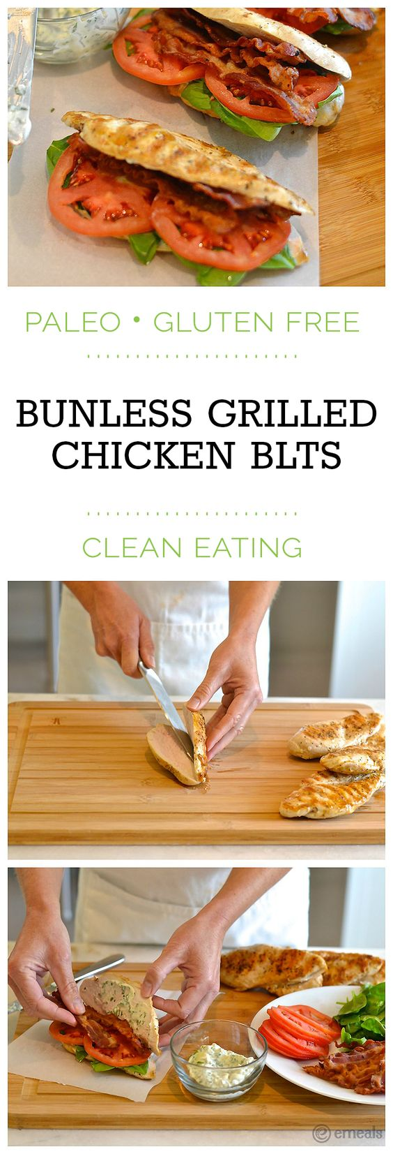 Bunless Grilled Chicken BLTS
