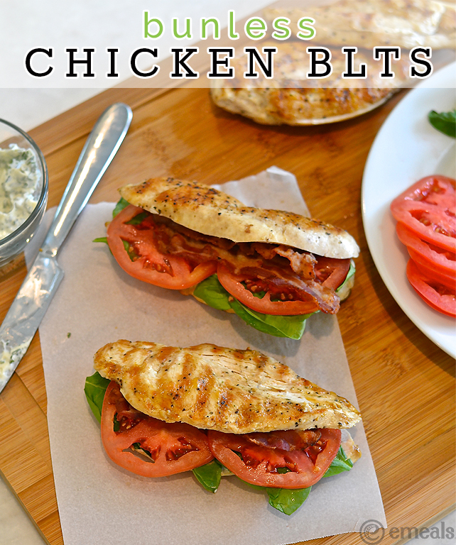 Bunless Grilled Chicken BLTS1
