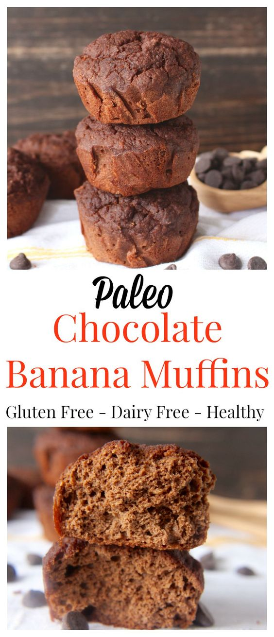 chocolate banana muffins pin
