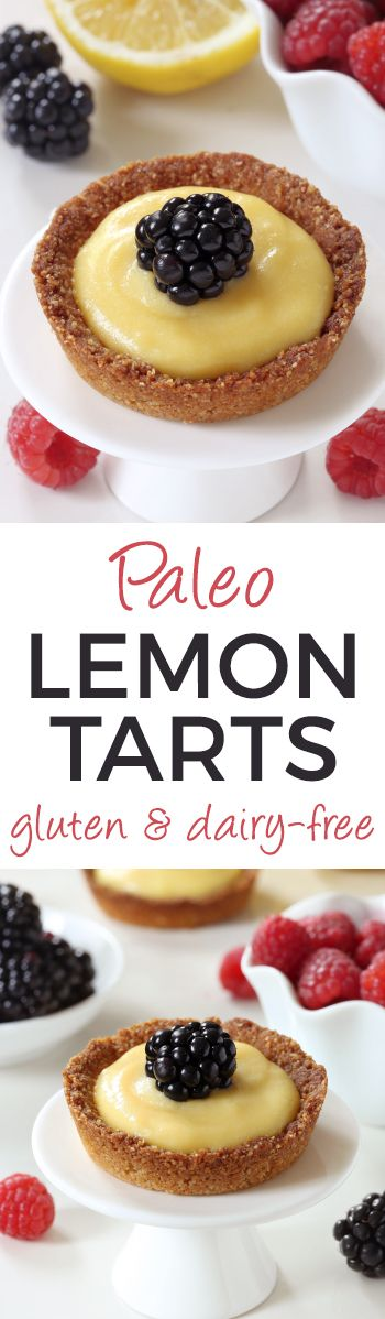 mini lemon tarts - paleo, dairy free