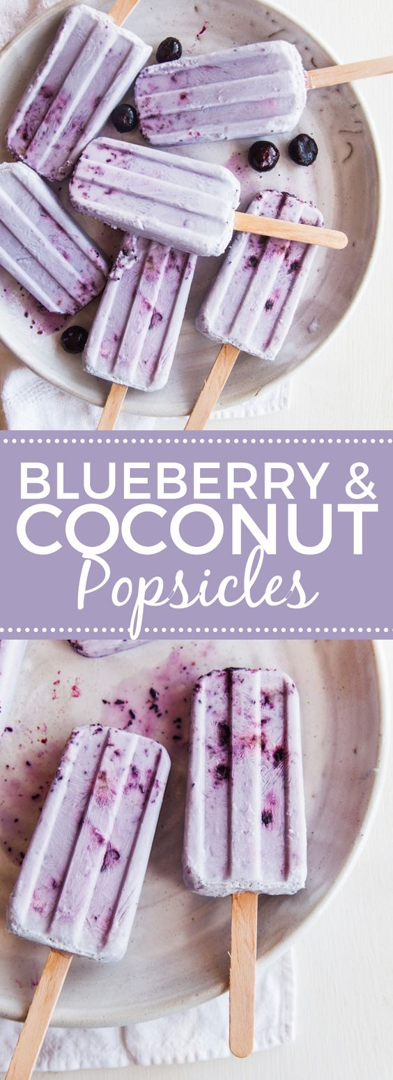 blueberry and coconut popsicles - paleo, vegan