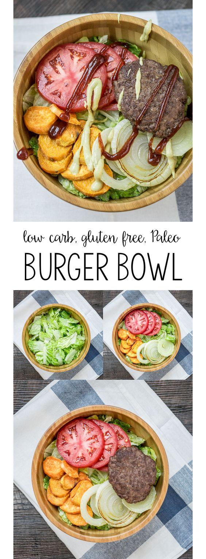 burger bowl - paleo, gluten free