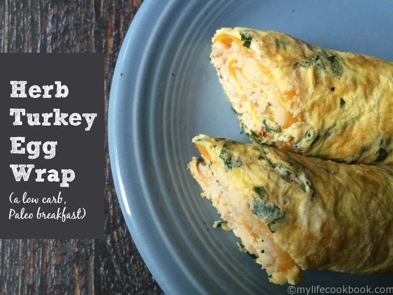herb turkey egg wrap