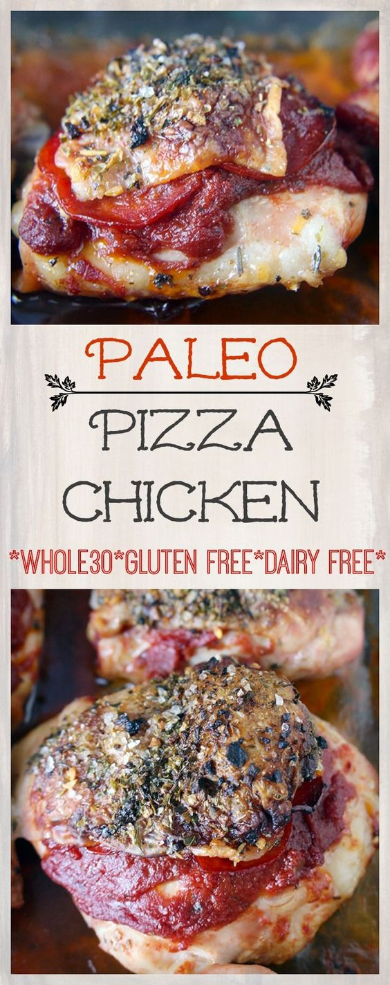 pizza chicken - paleo, whole30, gluten free