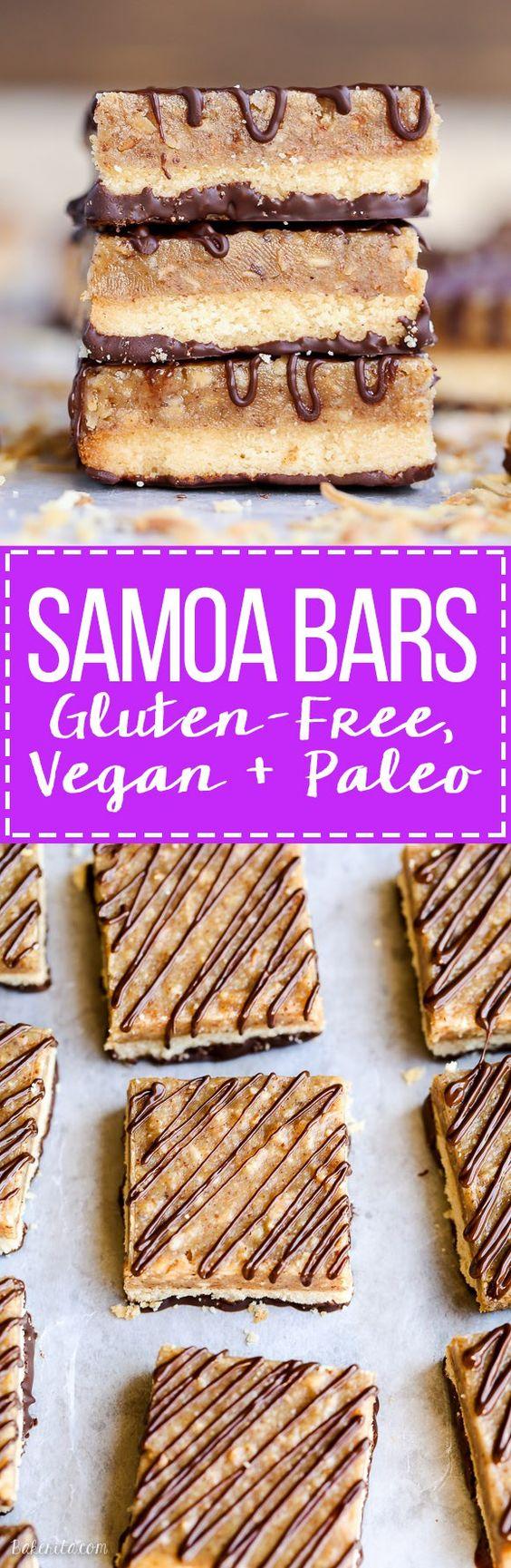 samoa bars - paleo, gluten free