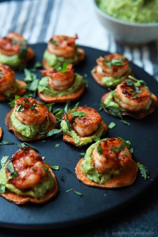cajun shrimp guacamole bites