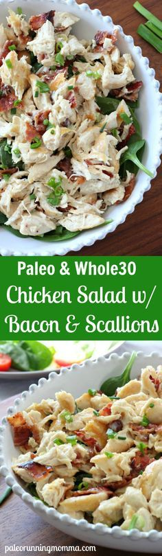 chicken salad with bacon and scallion - paleo, whole30