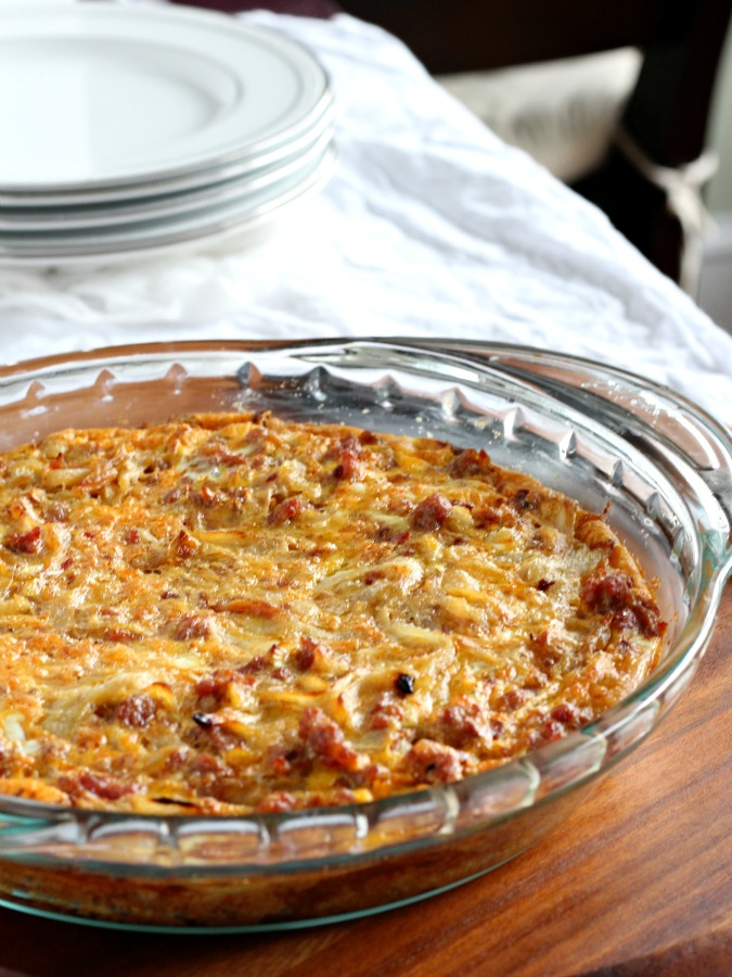 Chorizo Sausage Sweet Potato Frittata with Caramelized ...