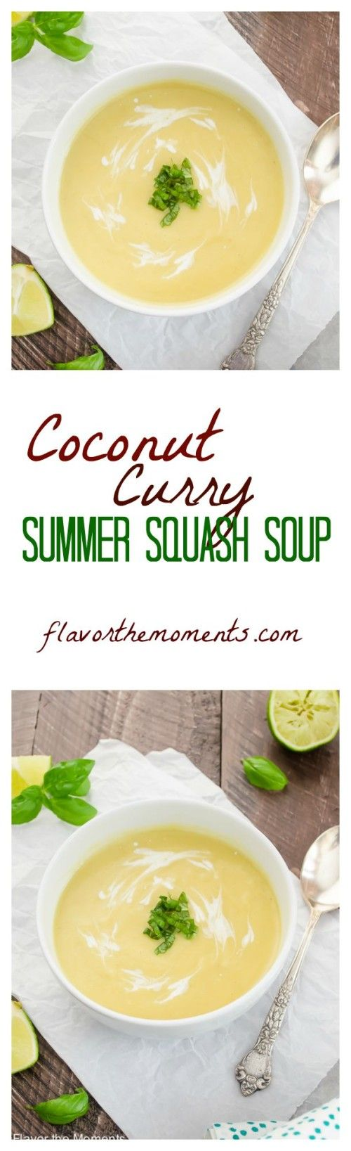 coconut curry summer squash soup - paleo, gluten free, dairy free