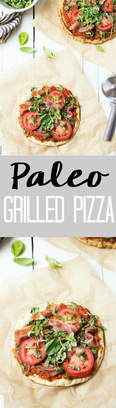grilled pizza - paleo, gluten free