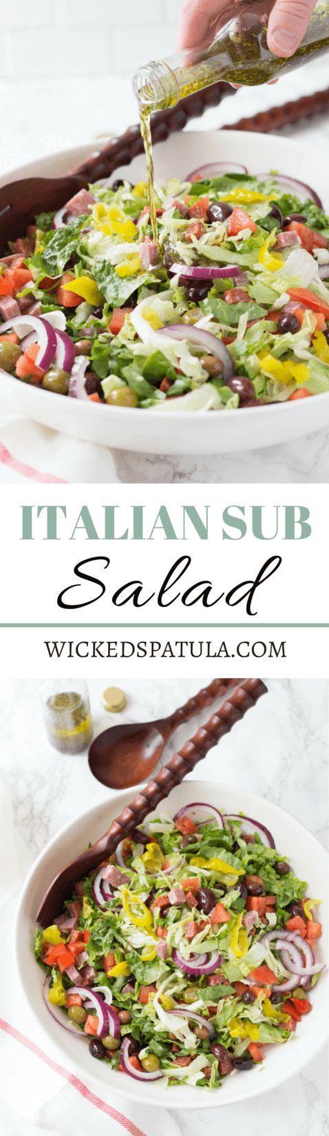 italian sub salad - paleo, gluten free