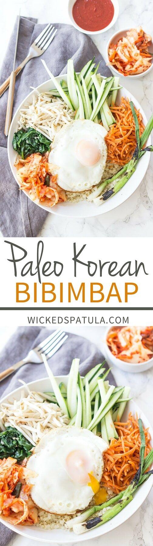paleo korean bibimbap - vegan, gluten free