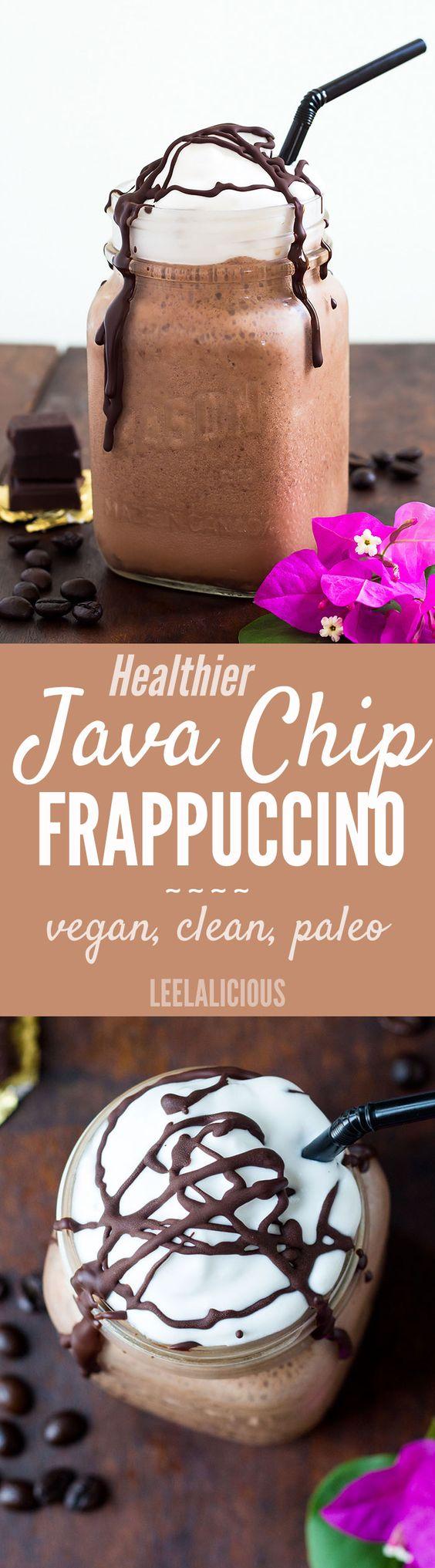 java chip frappuccino - paleo, vegan, gluten free