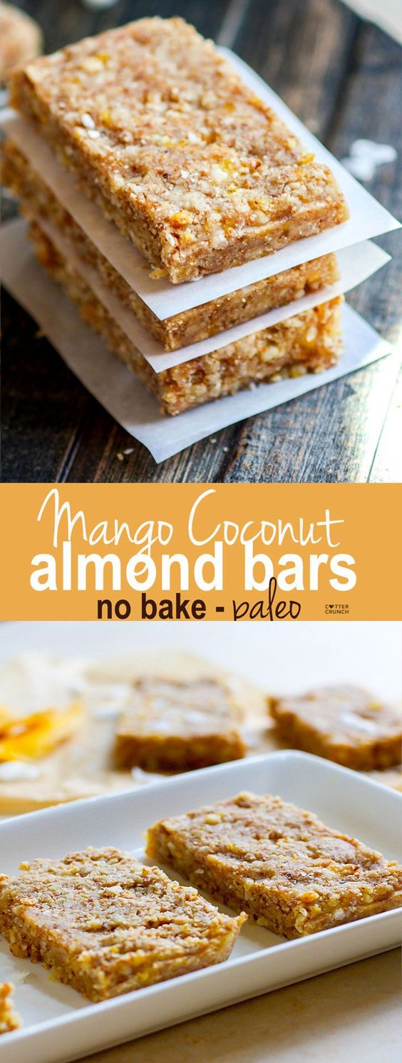 paleo mango coconut almond bars