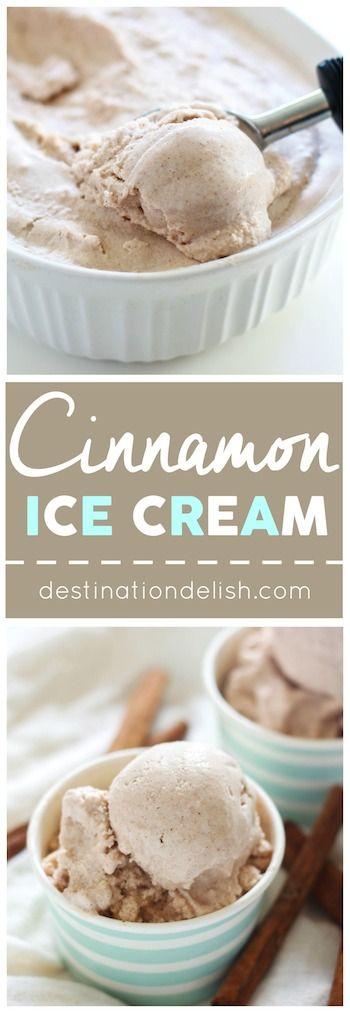 cinnamon ice cream - paleo, vegan, gluten free
