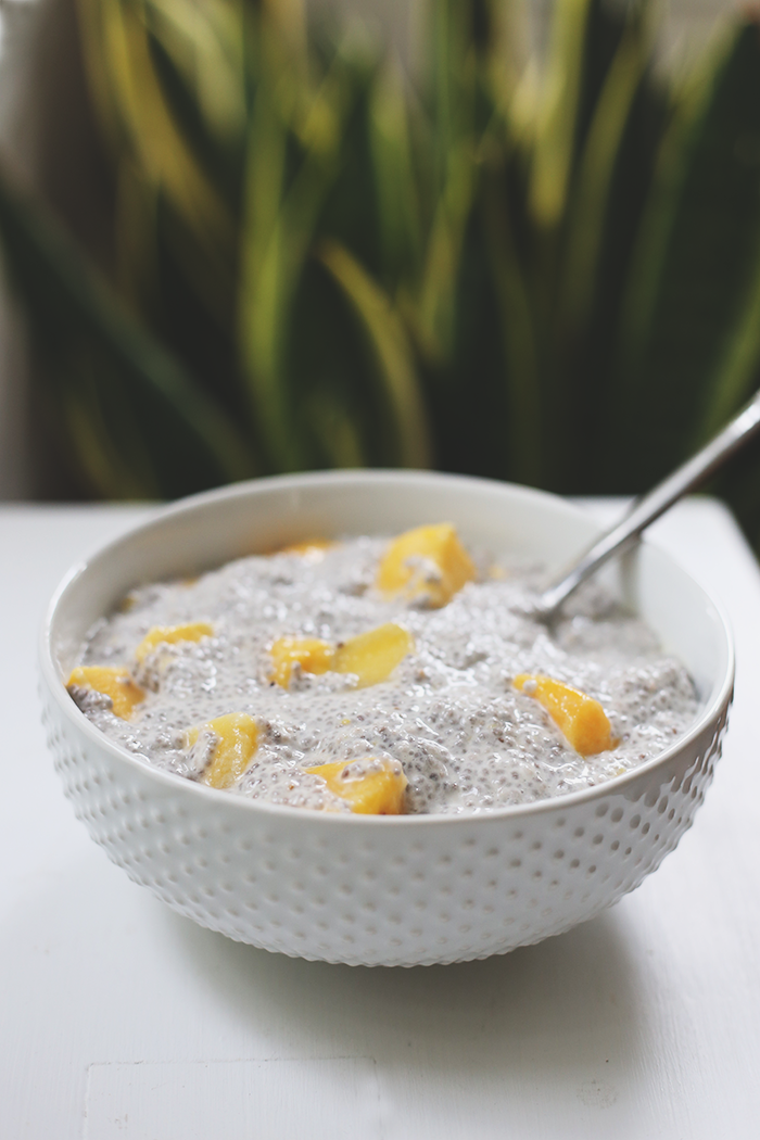 This three-ingredient Mango Coconut Chia Pudding is perfect for a ...