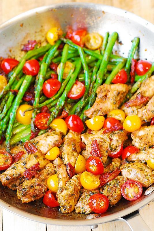 One Pan Pesto Chicken And Veggies Paleo Gluten Free